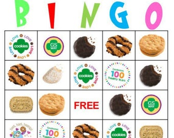 Girl Scout Printables - Cookie Bingo