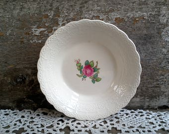 """Vintage Spode's """"Billingsley Rose"""" Berry Bowl, Small Dish, Spode Jewel Copeland Spode, Red/Pink Transferware,  Rose, English Tra"""