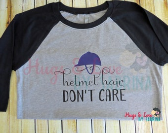 YOUTH Helmet Hair Don't Care shirt - horse riding - equestrian attire