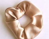 Nude Silk Hair Scrunchie