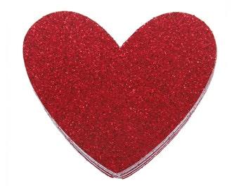 Glitter Red Heart Confetti, Heart Shape Confetti, Iridescent Heart Shaped Confetti, Birthday Heart Confetti, Anniversary Heart Confetti