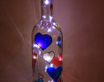 Heart Bottle light/lamp
