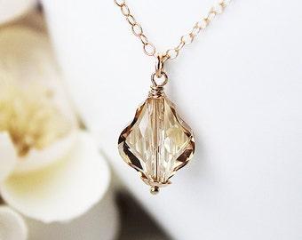Crystal pendant crystal necklace Swarovski crystal necklace Swarovski jewelry crystal necklace pendant crystal jewelry