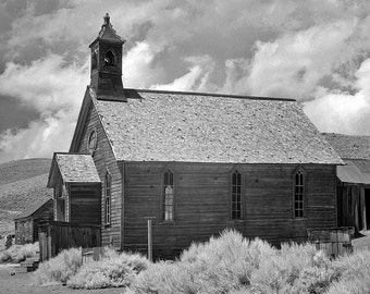 Bodie Ghost Town, Classic Americana Photography, Old Wood Buildings, Deserted Western Ghost Town, W.S. Bodie, Canvas Wrap or Print