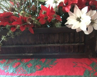 Vintage Shutter used to create Christmas Center Piece