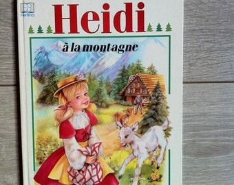 Heidi à la montagne - Vintage French Children Book
