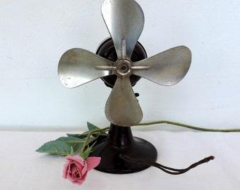 Vintage, Bakelite electric desk fan, 1930s, office ventilator