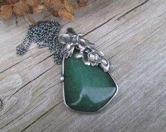 pendant with  Aventurine,freshwater pearls
