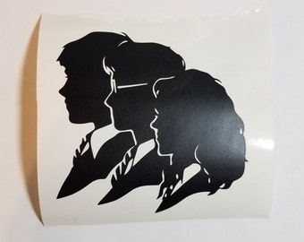 Harry Potter trio silhouettes