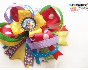 Inside Out, Colorful Stacked Hair Bow