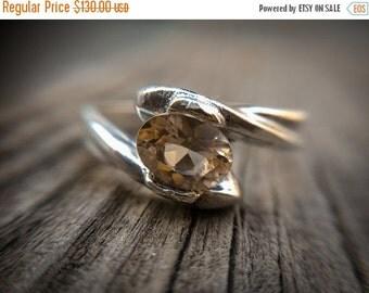 ON SALE Golden Beryl Ring , Heliodor Silver Ring , Golden Aquamarine , Yellow Beryl Ring