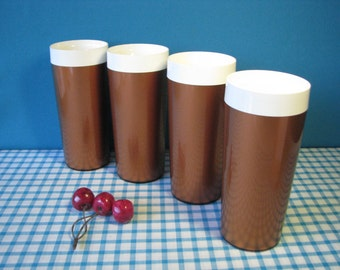 Thermo Tumblers - Set of 4 - Copper - Insulated - Vintage Kitchen 1960's