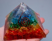 Sale! 7 CHAKRA PYRAMID Strong Protection and Healing Over 2 Inches On Sale and Discounted