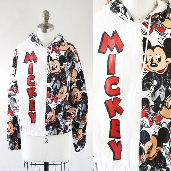 1980s Mickey Mouse canvas jacket // vintage jean jacket // vintage Disney jacket