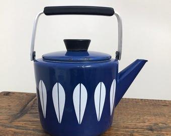 Vintage Cathrineholm Teapot / Catherineholm Kettle / Cathrineholm Lotus / Scandanavian Teapot / Mid Century Modern Collectable