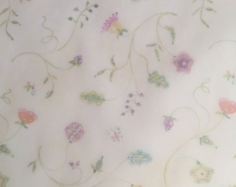 10 5.75x5.75 sheets beige vellum with floral pattern and a little glitter