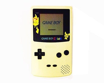 Limited Edition Gold / Silver Pokemon Nintendo Gameboy Color Console - Vintage GBC - Handheld Video Game