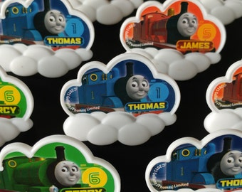 24 THOMAS the TRAIN  rings for cupcake toppers cake birthday party favors goodie bags decorations decor James Percy railroad tank friends