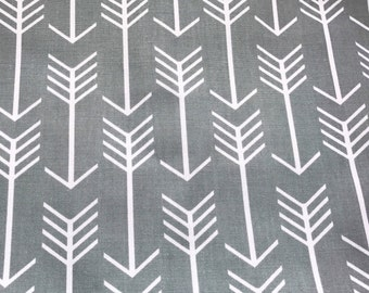 Crib Sheet, Gray, Arrow, Arrows, Grey, White, Adventure, Diaper, Baby Shower, Gift, Newborn, Boy, Woodland