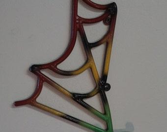 Custom Design Welded Metal, Guitar Wall Hanger