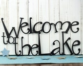 Welcome To The Lake Metal Sign | Lake House Decor | Metal Wall Art | Outdoor Sign | Sign | Lake Wall Decor | Cabin Decor