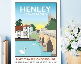 Henley-on-Thames Regatta, Oxfordshire Print