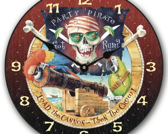 Pirate Party Wall Clock