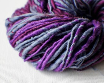 SALE: Bulky handspun yarn, Thick and Thin Yarn, Art Yarn, knitting supplies crochet supplies, scrapbooking