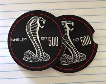 Shelby GT  500 Custom Sandstone Car Coaster
