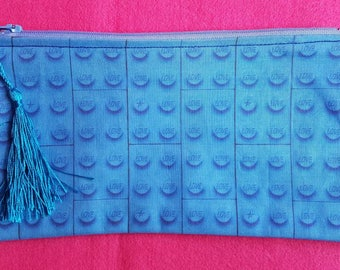 Lego inspired zipped pouch