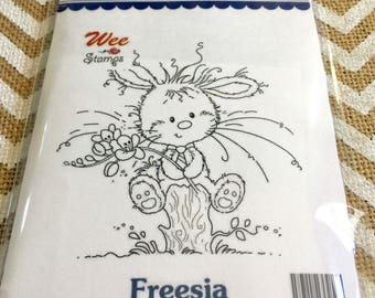 Freesia Wee Stamps for Whimsy Stamps USA Made