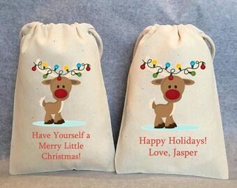 "10- Christmas bags, Christmas favor bags, Christmas gift bag, Christmas treat bag, Christmas party favor bag, Christmas gift,  4""x6"""