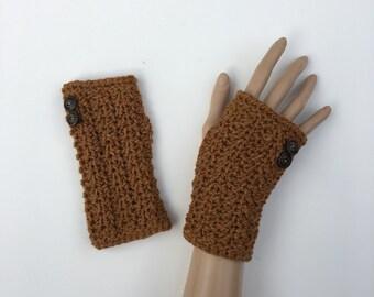Fingerless Gloves/Wrist Warmers ~ Organic Wool ~