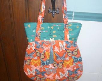 Bohemian Shoulder Bag Featuring Butterflies