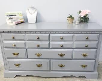 Glossy Gray Dresser!