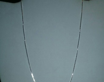 Sterling Silver Venetian Box Chain Style Necklace For Pendant Or Charm Jewelry Gift Accessory