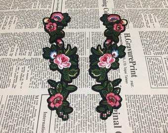 Embroidered Flower Applique Iron On Patch