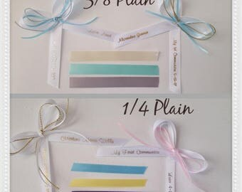 personalized ribbon 1/4 -3/8 plain satin ribbon (extra decoration not included)