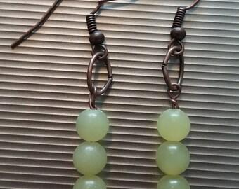 Yellow Beaded Earrings 46