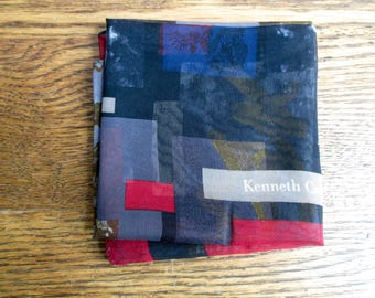 Vintage Kenneth Cole Abstract Sheer Scarf