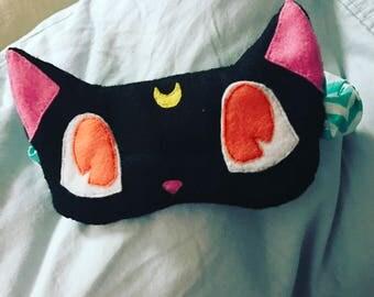 Luna Sleep mask, Luna eye mask, Sailor Moon sleep mask