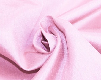 Pink Shantung Mid-Weight Fabric, DIY Crafts, Decorations, Apparel - 1 Yard Style 3005