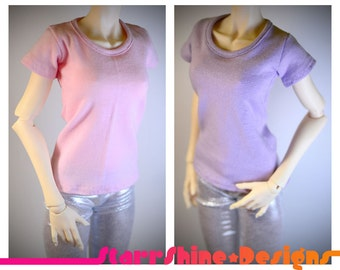 BJD SD 1/3 Doll clothing - Girly Tee - Your Choice of 20 Colors
