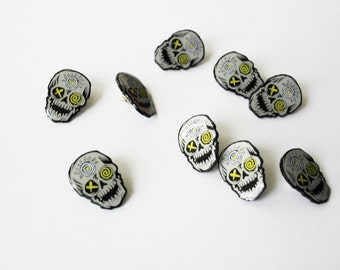 ALL HALLOWS SKULL Enamel Pin.