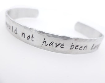 Memorial jewelry, Forever Would not have been long enough, handstamped adjustable cuff bracelet, grief loss grieving lost loved one death