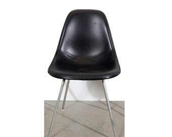 Eames Black Shell Chair Herman Miller Fiberglass Shell Chairs on H base