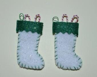 Christmas Glitter Stockings (Pair)