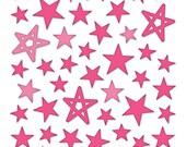 Bella Blvd - Pink Puffy Star Stickers - 50 pieces - PFST1672