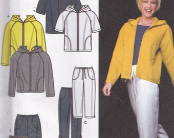 Simplicity 9267 Vintage Pattern Womens Swewat Pants, Shorts, Jackets and Top Size 8,10,12,14 UNCUT