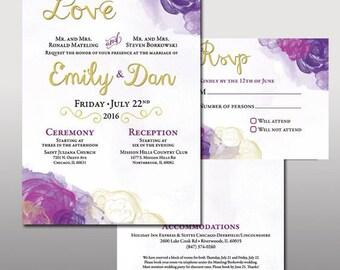 Custom Wedding Invite